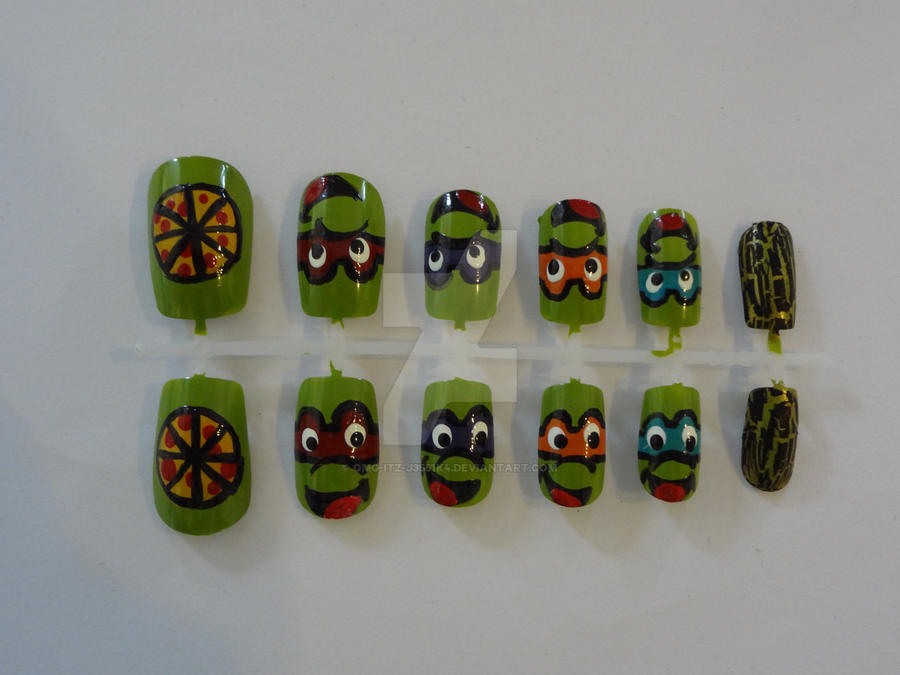 Ninja Turtles Nail Art by OMG-itz-J3551K4 on DeviantArt