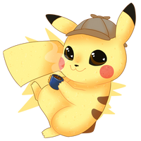 Detective Pikachu - Sticker by Mymzi