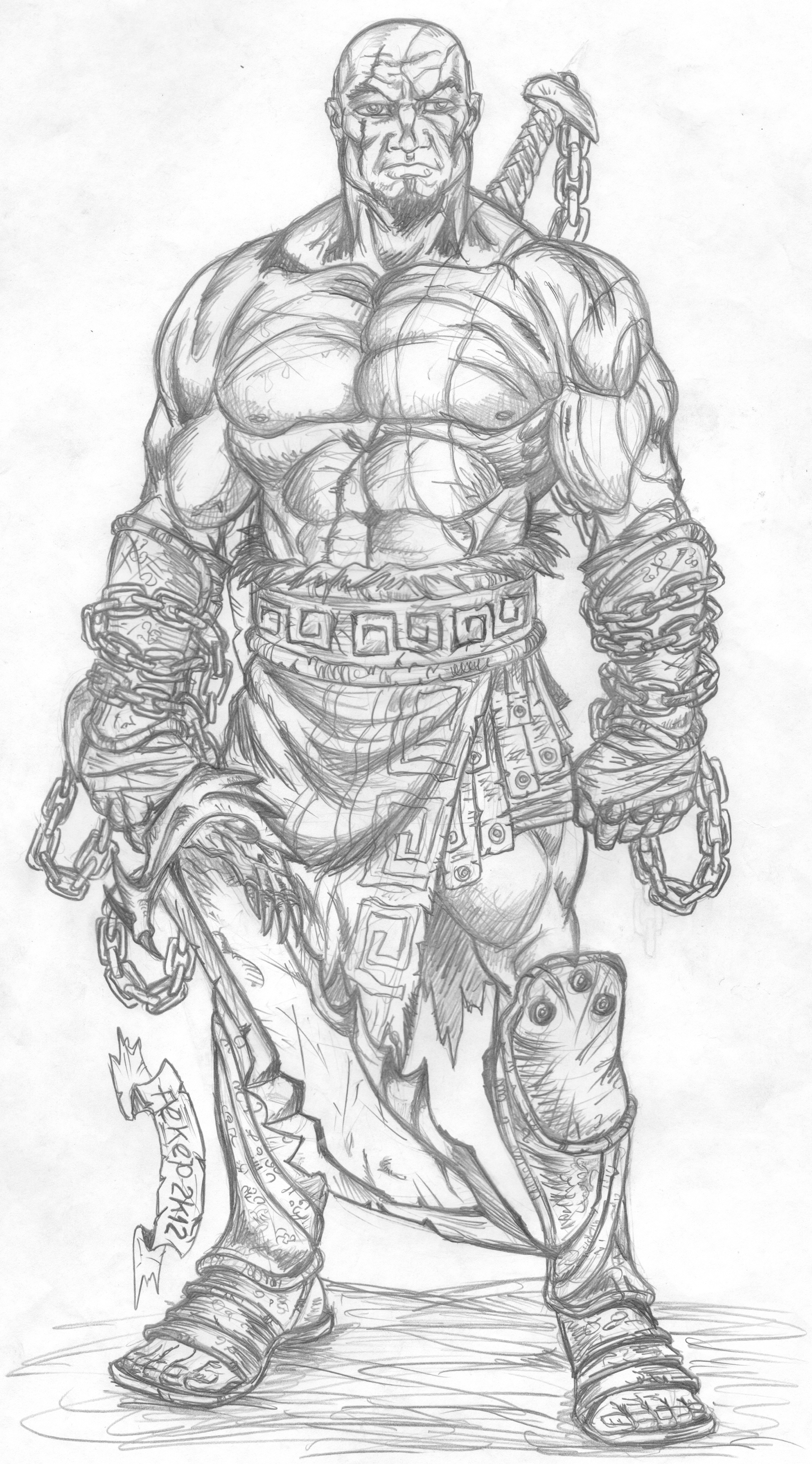 Kratos God Of War By Studioquimera On Deviantart