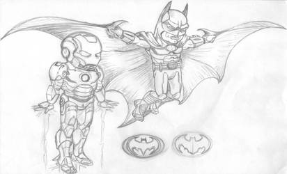 Sketch The World's Finest by studioquimera