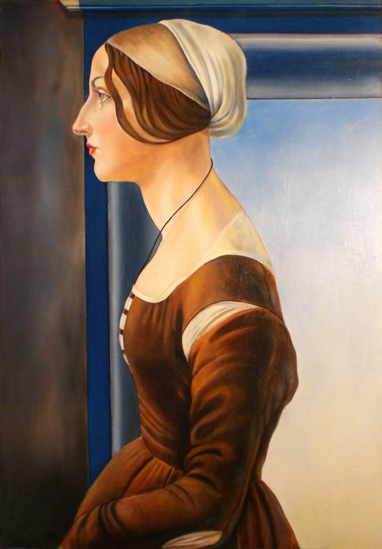 sandro botticelli Portrait of a Young Woman by annalobello