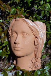 girl ceramic plant pot by annalobello