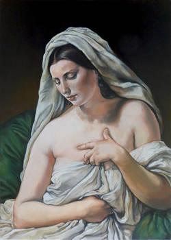 after Francesco Hayez - odalisca