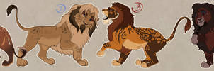 March lion adoptable set CLOSED