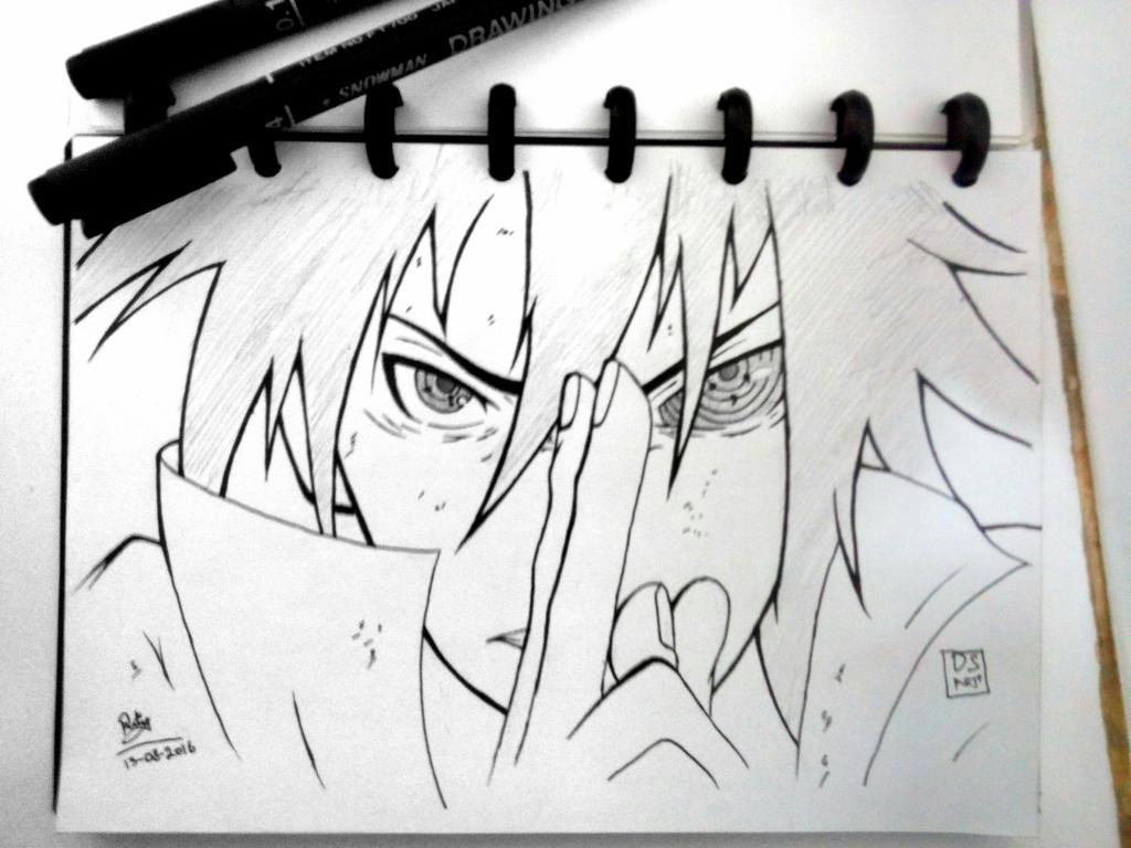 uchiha sasuke rinnegan mode by dragonspen11 on deviantart