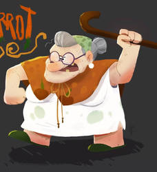 old lady carrot by reaperff7