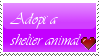 Adopt a shelter animal stamp by 90sCat