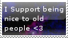 Be nice to old people stamp by 90sCat