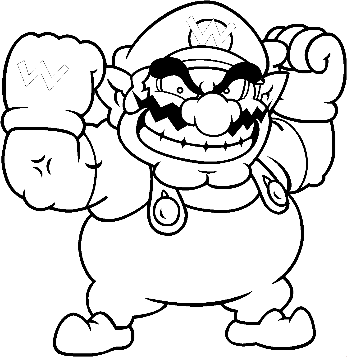 wario coloring pages - photo#1
