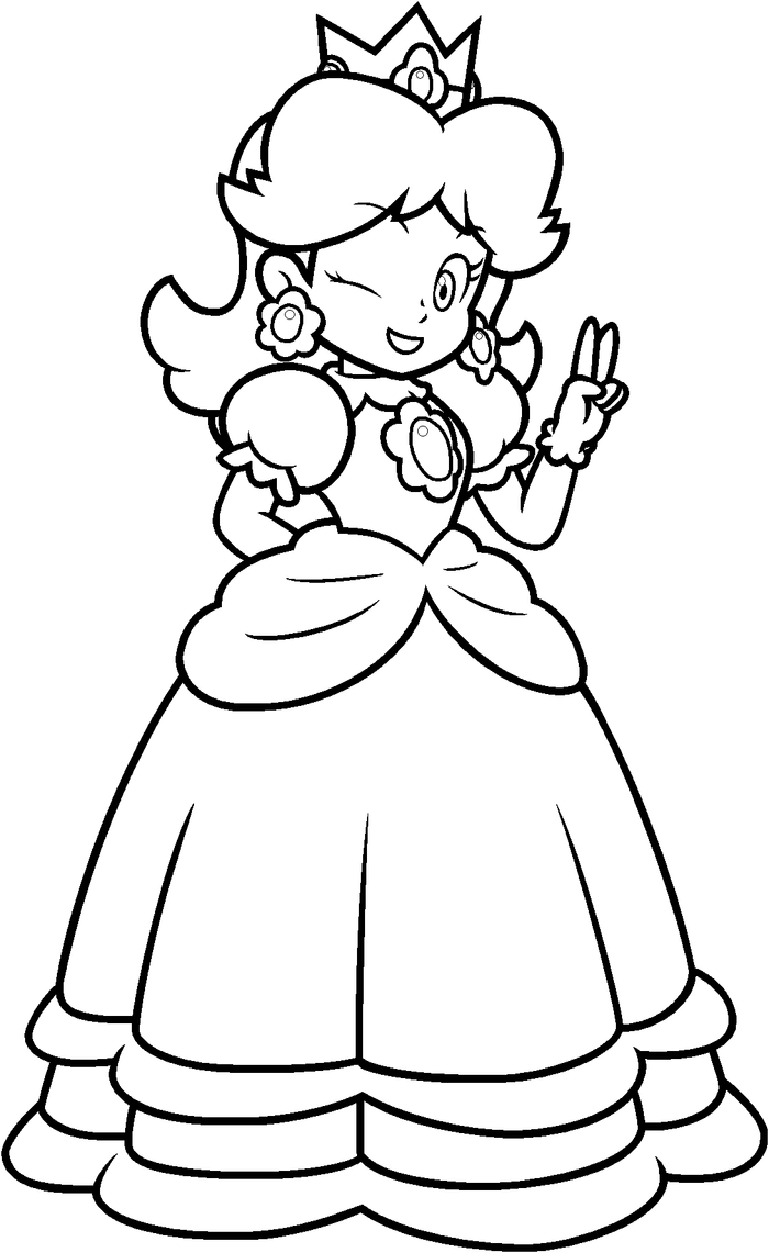 daisy mario coloring pages - photo#6