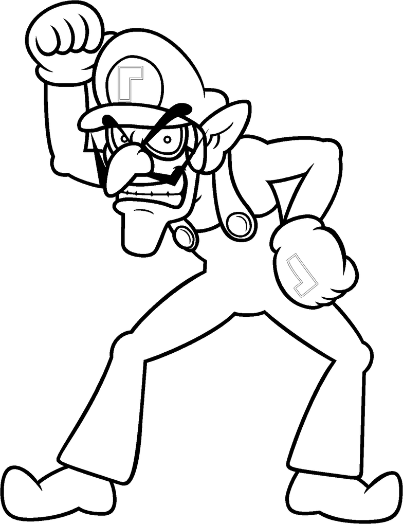 wario coloring pages - photo#12