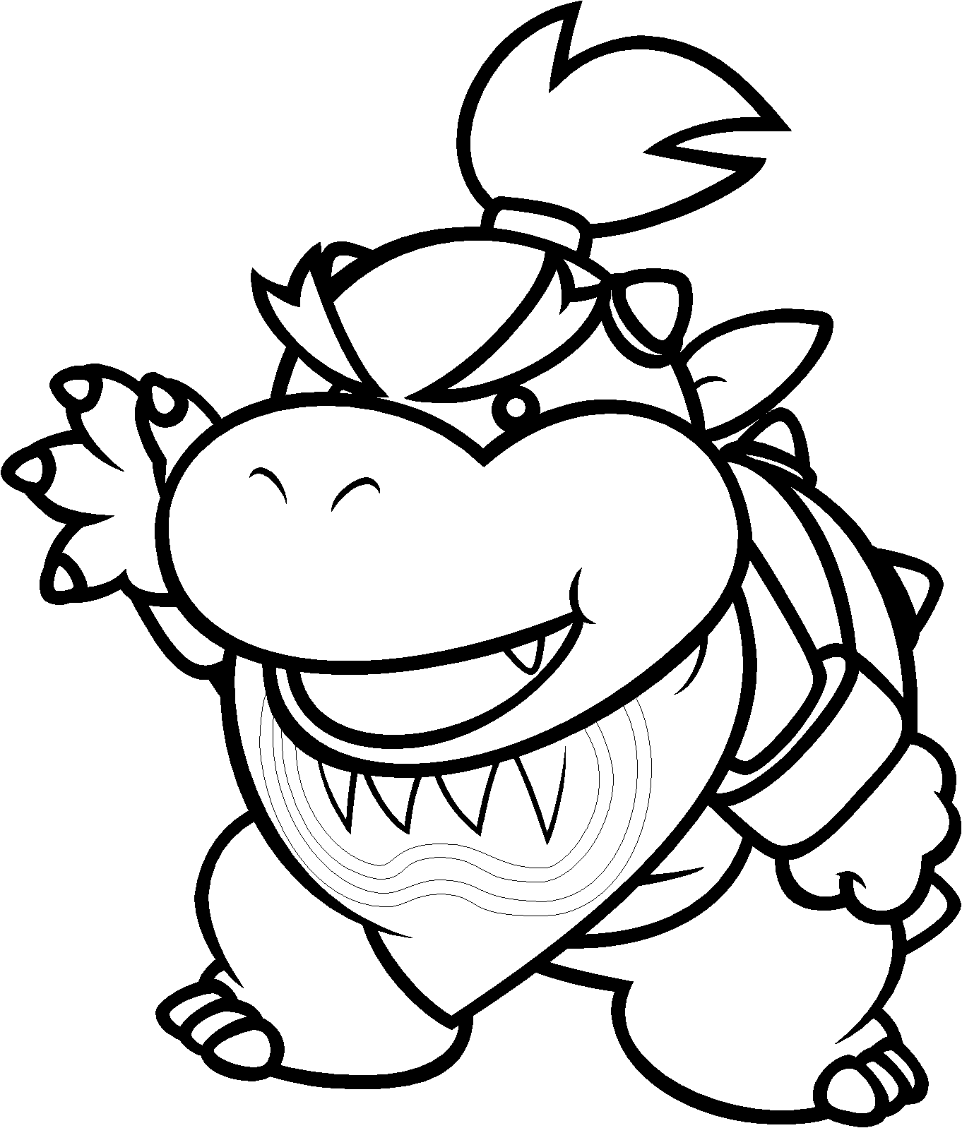 Dark bowser coloring pages sketch coloring page for Bowser jr coloring pages printable