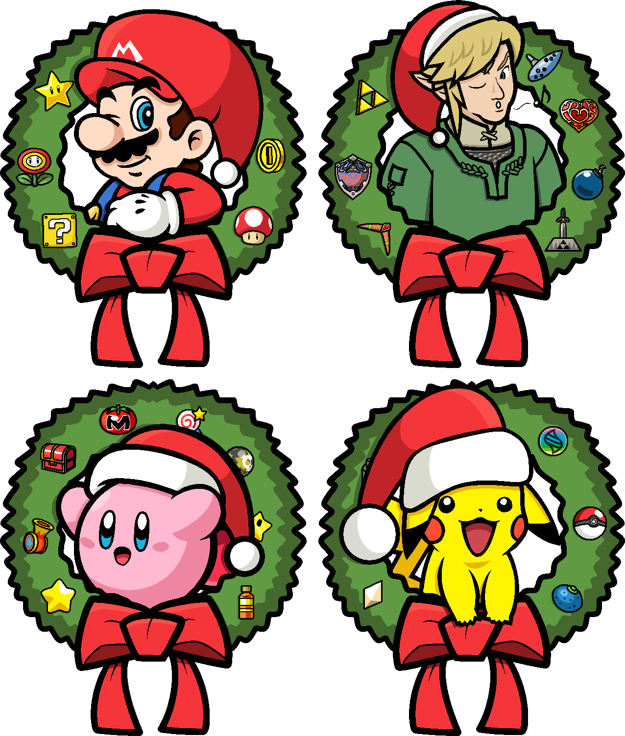 Christmas Mario Png.Super Christmas Roster By Blistinaorgin On Deviantart