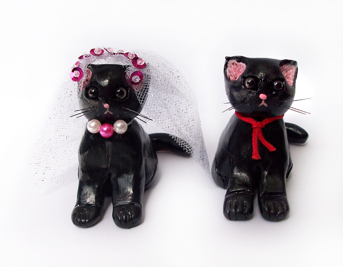 black cats wedding cake toppers black cat wedding cake topper by deadlulu on deviantart 11858