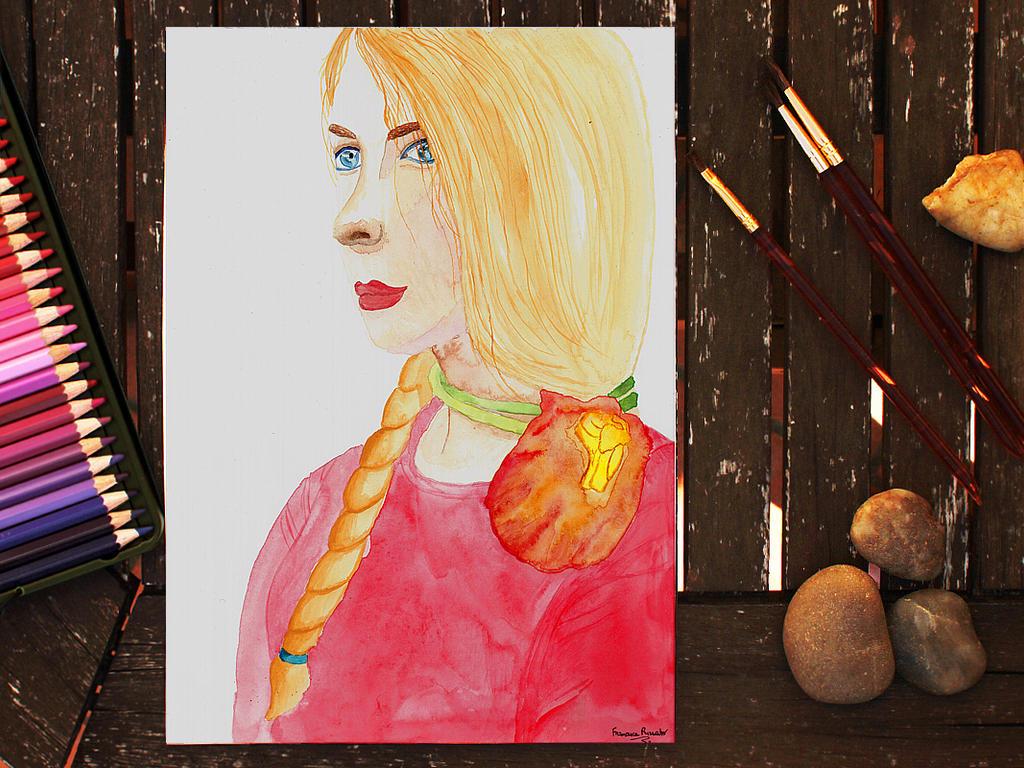 Watercolor Self Portrait by DeadLulu