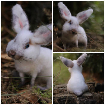 Poseable Bunny Sculpture - (SOLD) by LaVolpeCimina