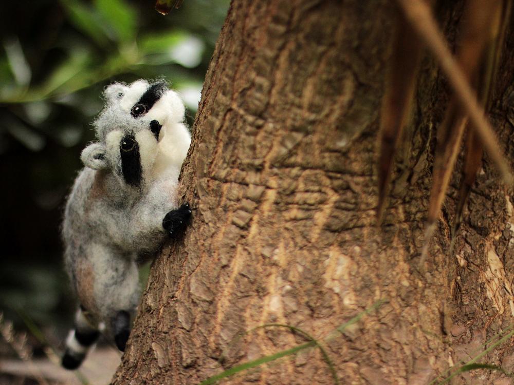 Poseable Raccoon Sculpture by DeadLulu