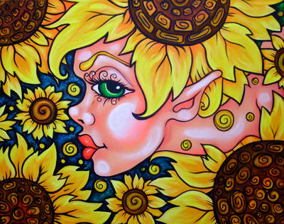 Sunflower girl by oliecannoligriffard