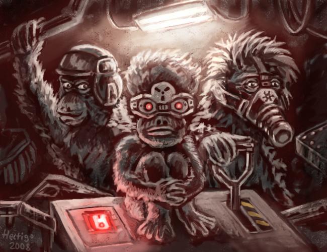 Three Wise Monkeys Drawings Three Wise Monkeys by Hectigo
