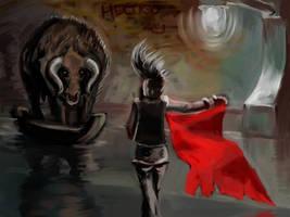 Bullfighting at Flooded Metro by hectigo