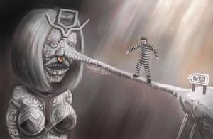 Greedy Mime In a Strange Place by hectigo