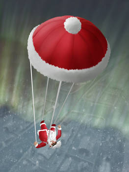 Skydiving Santa