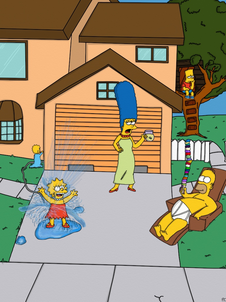 Summer With The Simpsons Contest Entry by Biggest-Bob-Fan-Ever