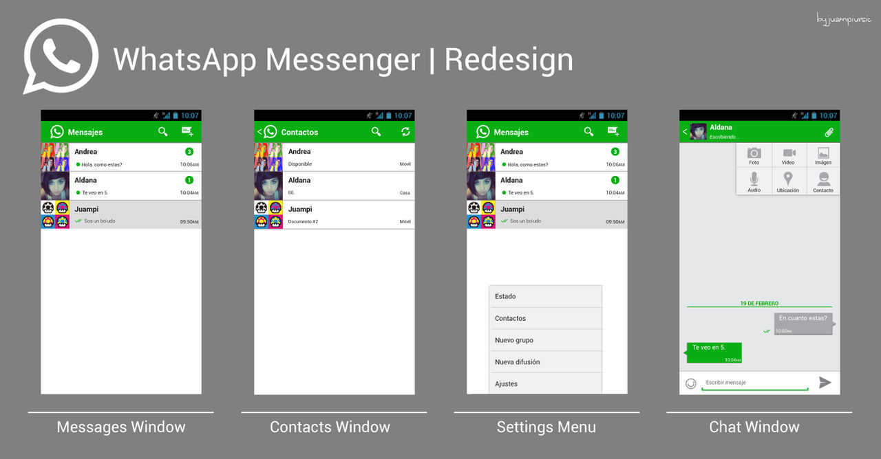 WhatsApp Messenger | Redesign