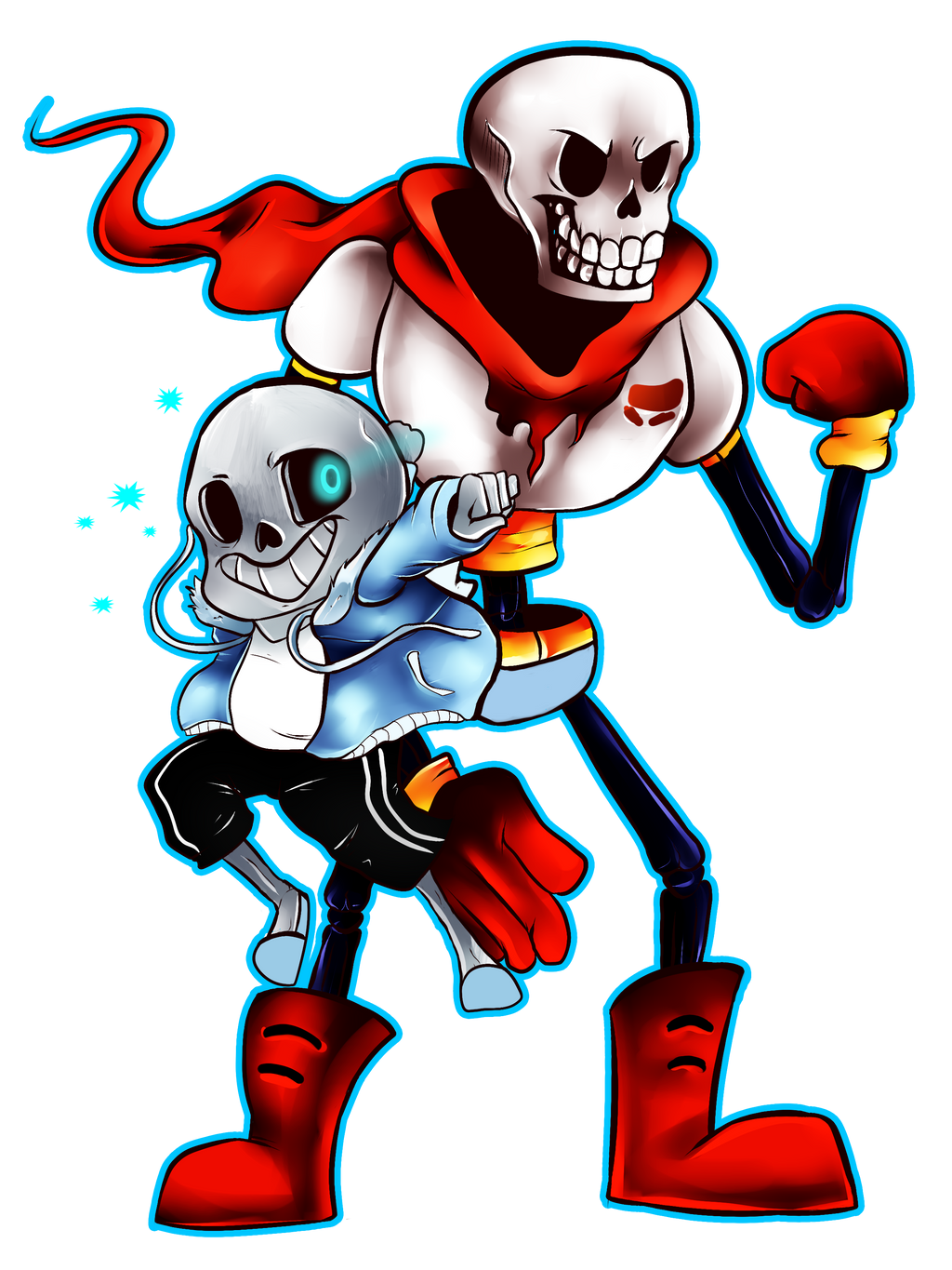 Oopsies - Papyrus, Sans, and Frisk by Frozen--Star on