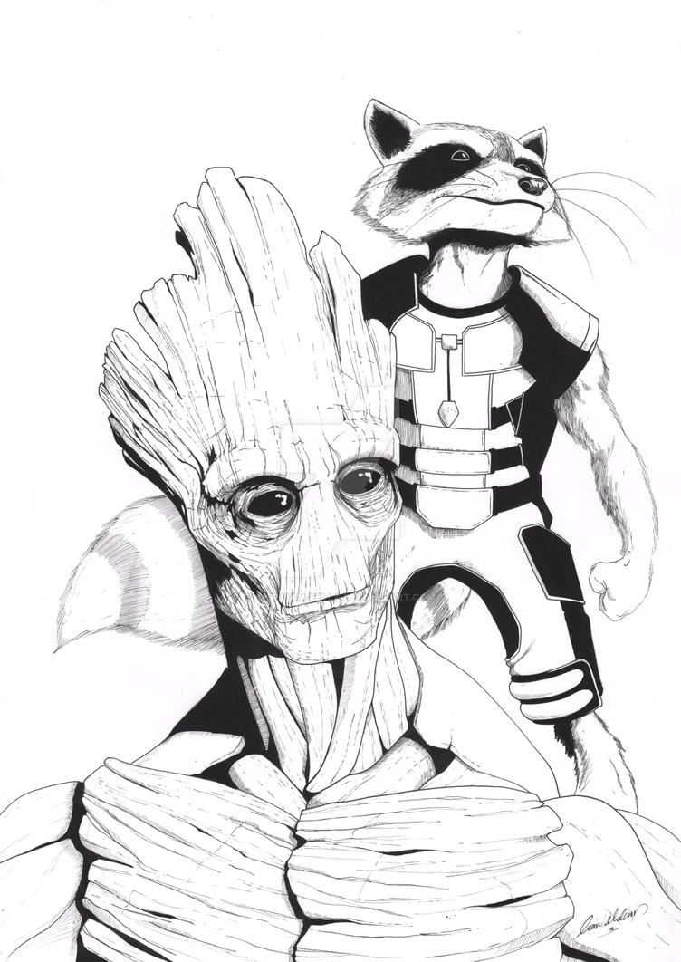 Rocket And Groot By The Liam Fella On Deviantart