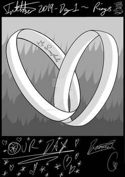 Inktober day 1-simple rings