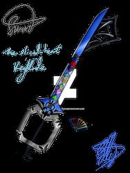 Sliced Heart Keyblade