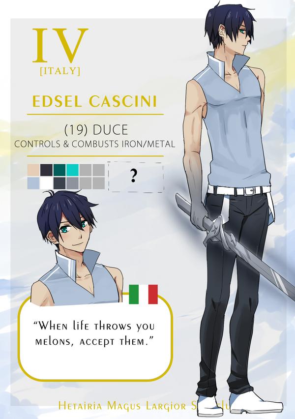 HMLS: Edsel Cascini, Substitute Duce IV-Italy by yura-tsuki