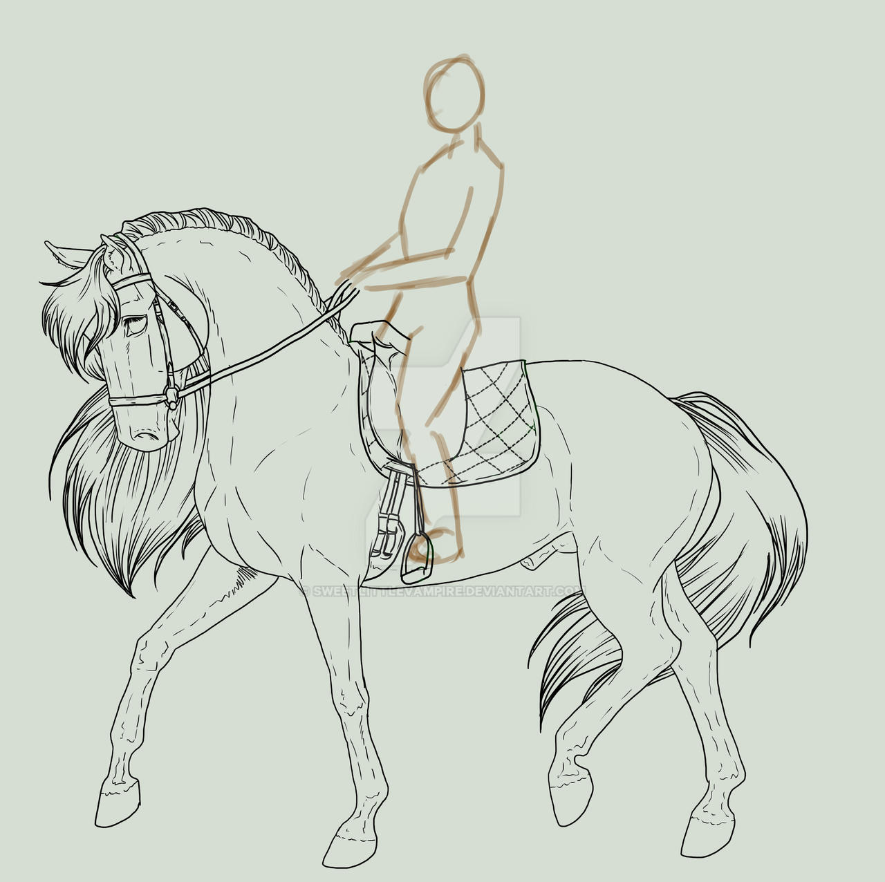 Horse And Rider Wip 4 By Sweetlittlevampire On Deviantart