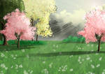Free Spring Meadow Background