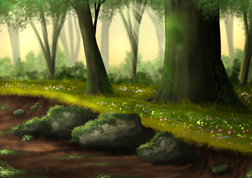 Free Summer Forest Background By Sweetlittlevampire On