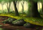 Free Summer Forest Background