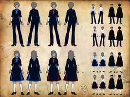 Lucilinburhuc Wizarding School - Uniforms by SweetLittleVampire