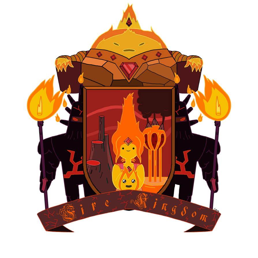 Fire Kingdom Heraldic Shield by MrCaputo