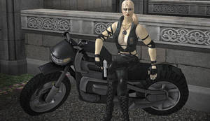Sonya Blade and Her Ride