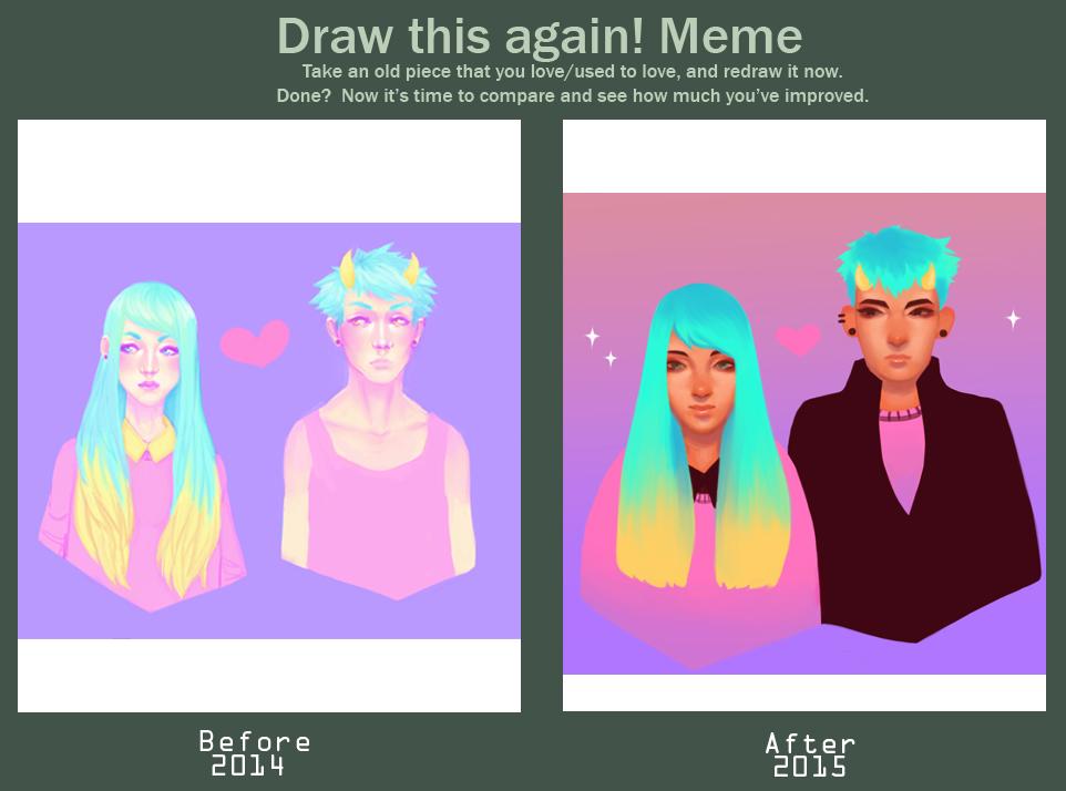 Redraw Art Meme! by Wafffffles