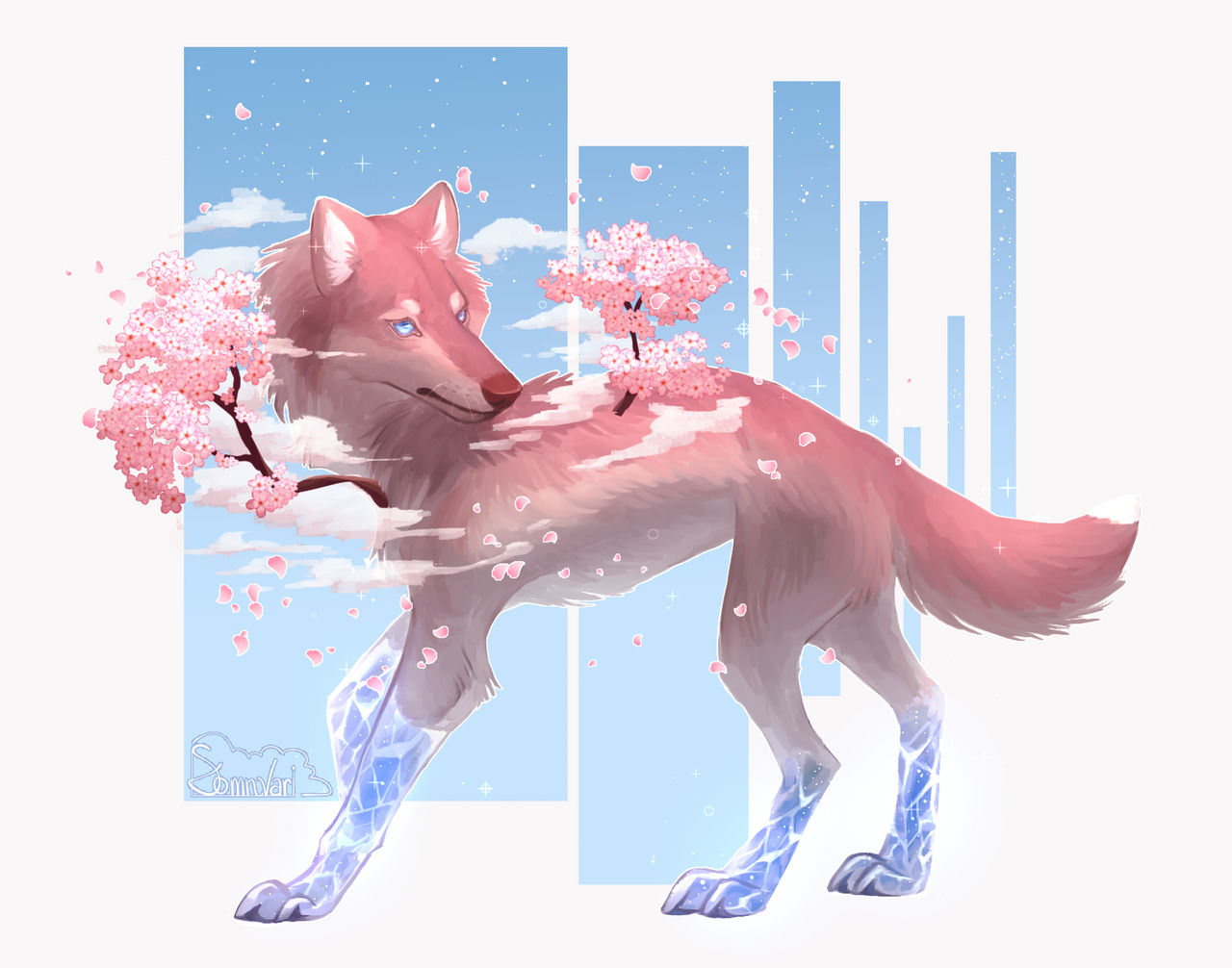 Cherry Blossom Crystal Doggo