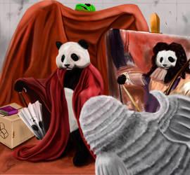 Panda Portrait by FurkanHolmes