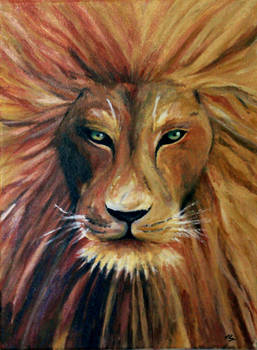Aslan (Acrylic painting)