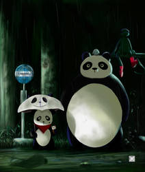 Panda Totoro by FurkanHolmes