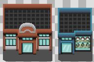 Pokemon Center and Mart Tiles by AshnixsLaw