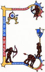 7 Pearls Archery Champion Scroll by Serikiyo