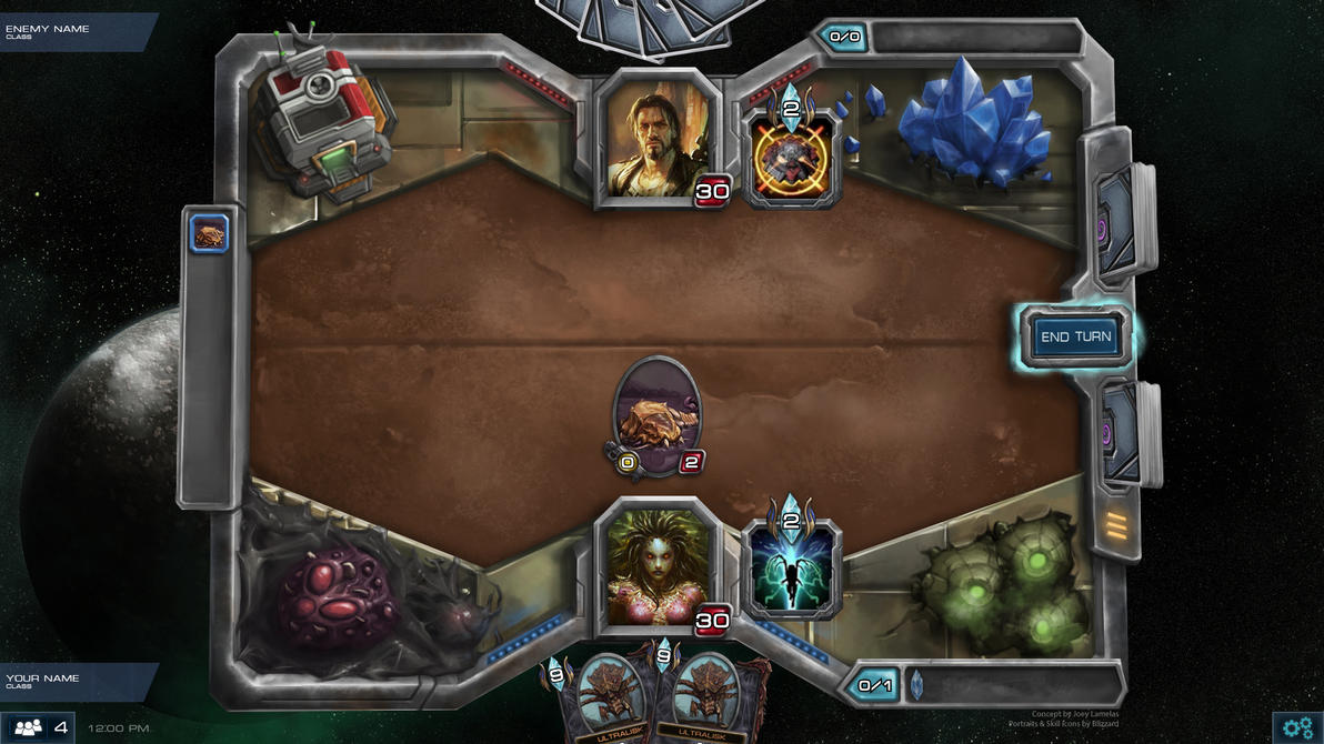 Hearthstone + Starcraft Board Concept by hammn