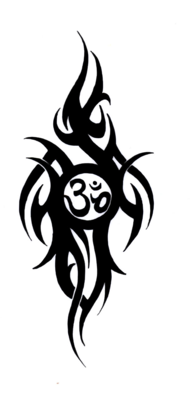 The gallery for aum tribal tattoo designs for Tribal art tattoo