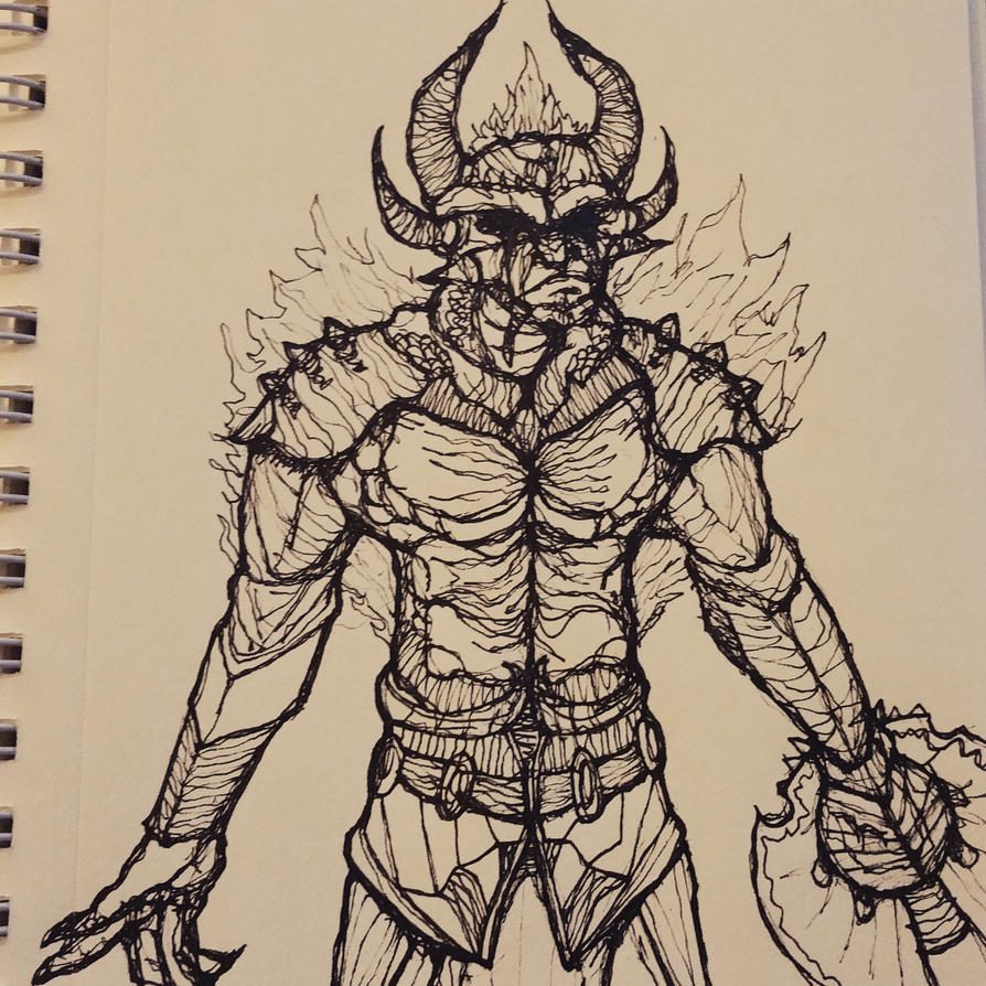 Drawing Lines Without Lifting Pen : Day draw a demon without lifting your pen by g